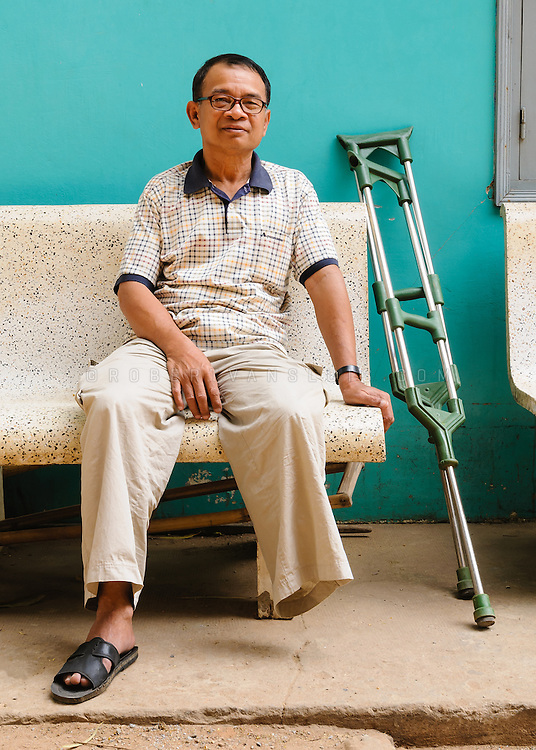 Land mine survivor, Physical Rehabilitation Center, Siem Reap, Cambodia. Photo © Robert van Sluis