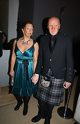 TOM HUNTER and     at a Burns Night dinner in aid of CLIC Sargent and Children's Hospice Association Scotland held at St.Martin's Lane Hotel, St.Martin's Lane, London on 25th January 2007.<br />