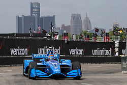 June 1, 2018 - Detroit, Michigan, United States of America - Ed Jones (10) takes to the track for a practice session for the Detroit Grand Prix at Belle Isle Street Course in Detroit, Michigan. (Credit Image: © Stephen A. Arce/ASP via ZUMA Wire)