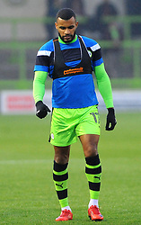 Daniel Wishart of Forest Green Rovers warms up-Mandatory by-line: Nizaam Jones/JMP - 18/11/2017 - FOOTBALL - New Lawn Stadium - Nailsworth, England - Forest Green Rovers v Crewe Alexandre-Sky Bet League Two