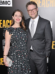 """(L-R) Lauren Miller and Seth Rogen arrives at AMC's """"Preacher"""" Season 2 Premiere Screening held at the Theater at the Ace Hotel in Los Angeles, CA on Tuesday, June 20, 2017.  (Photo By Sthanlee B. Mirador) *** Please Use Credit from Credit Field ***"""