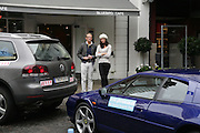 NILS TRULSON AND  LOUISE LUNDQUIST, De Grisogono & Londino Car Rally  setting off from the Bluebird Building. King's Rd. London. 23 August 2007. Car rally which takes drivers through London, France, Switzerland and finally to Portofino .  -DO NOT ARCHIVE-© Copyright Photograph by Dafydd Jones. 248 Clapham Rd. London SW9 0PZ. Tel 0207 820 0771. www.dafjones.com.