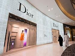 Dior boutique at The Dubai Mall in Dubai United Arab Emirates