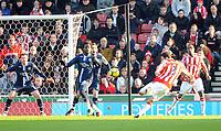 Stoke City/Blackburn Rovers Premiership 06.02.10<br /> Photo: Tim Parker Fotosports International<br /> Danny Higginbotham Stoke scores 1st goal