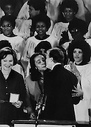 President Jimmy Carter with Coretta Scott King, widow of the late Dr. Martin Luther King, Jr. at King's Ebenezer Baptist Church in Atlanta.