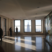 A panoramic view of Manhattan, New York, from the Top of the Rock, the Rockefeller Center showing the Empire State Building, Manhattan, New York, USA. 26th November 2012. Photo Tim Clayton