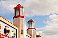 Deco arcade building architecture at Glen Echo Park, Maryland. WATERMARKS WILL NOT APPEAR ON PRINTS OR LICENSED IMAGES.