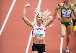 03-03-2017  SRB: European Athletics Championships indoor day 1, Belgrade<br /> In een lege Kombank Arena wordt de eerste dag van het Europees Kampioenschap gehouden / Ivona Dadic AUT