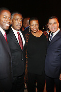 l to r: St.Senator Malcolm Smith, Rev. Al Sharpton, Terrie Williams and Governor David Patterson at Rev. Al Sharpton's 55th Birthday Celebration and his Salute to Women on Distinction held at The Penthouse of the Soho Grand on October 6, 2009 in New York City
