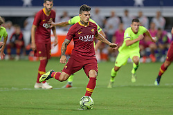 July 31, 2018 - Arlington, TX, U.S. - ARLINGTON, TX - JULY 31: AS Roma forward Diego Perotti (8) scores on a penalty shot during the International Champions Cup between FC Barcelona and AS Roma on July 31, 2018 at AT&T Stadium in Arlington, TX.  (Photo by Andrew Dieb/Icon Sportswire) (Credit Image: © Andrew Dieb/Icon SMI via ZUMA Press)