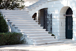 High Resolution view of the newly renovated steps on the west side of the South Portico of the White House in Washington, DC, USA, on Tuesday, August 22, 2017. Photo by Ron Sachs/CNP/ABACAPRESS.COM