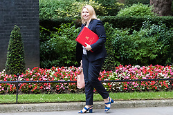 London, June 27th 2017. Secretary of State for Culture, Media and Sport Karen Bradley attends the weekly UK cabinet meeting at 10 Downing Street in London.