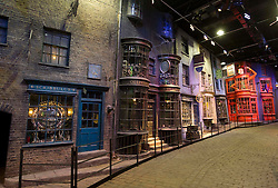 © Licensed to London News Pictures 27/02/2011 London, UK. .Diagon Alley inside The Warner Brothers Studio Tour, Leavesden, Herts where all 8 Harry Potter movies were made and opens to the public this week..Photo credit : Simon Jacobs/LNP