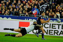 November 11, 2017 - Saint Denis, Seine Saint Denis, France - French team Wing NANS DUCUING in action during the friendly match between France and New Zealand at the Stade de France - St Denis - France.New Zealand beats France 38-18 (Credit Image: © Pierre Stevenin via ZUMA Wire)