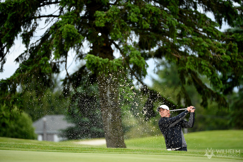24 MAY 2013:  Marcus Segerstrom of Barry University during the 2013 NCAA Men's Division II Golf Championship held at Hershey Country Club in Hershey, PA. Barry defeated Lynn on cumulative stroke total to win the national team title. Brett Wilhelm/ NCAA Photos