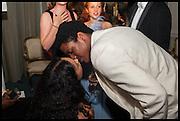CARMEN BROWN; DAVID IGBOKWE, Florence Heoluwa 'Cuppy' Otedola Marie Antoinette Graduation party. Mandarin Oriental, Knightsbridge25th of July 2014.