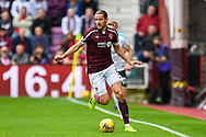 Peter Haring (#5) of Heart of Midlothian FC during the Cinch SPFL Premiership match between Heart of Midlothian and Hibernian at Tynecastle Park, Edinburgh, Scotland on 12 September 2021.