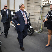 Terzo giorno della Settimana della Moda a Milano edizione 2013: alla Villa Reale per la sfilata Tod's. Diego Della Valle presidente e Amministratore Delegato di Hogan e Tod's <br /> <br /> Third day of Milan fashion week 2013 edition: at Villa Reale (Royal Villa of Milan) for the Tod's fashion show. Diego Della Valle president and CEO of Hogan and Tod's.