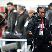 Besiktas's Recep Cetin (R) during their Turkish superleague soccer match Besiktas between MP Antalyaspor at BJK Inonu Stadium in Istanbul Turkey on Monday, 15 April 2013. Photo by Aykut AKICI/TURKPIX
