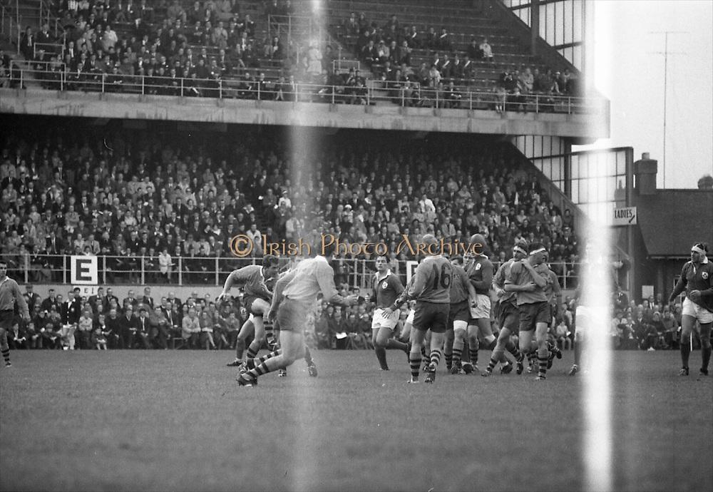 Irish Rugby Football Union, Ireland v Australia, Tour Match, Landsdowne Road, Dublin, Ireland, Saturday 26th October, 1968,.26.10.1968, 10.26.1968,..Referee- W K M Jones, Welsh Rugby Union, ..Score- Ireland 10 - 3 Australia, ..Irish Team, ..T J Kiernan,  Wearing number 15 Irish jersey, Captain of the Irish team, Full Back, Cork Constitution Rugby Football Club, Cork, Ireland,..J C M Moroney, Wearing number 14 Irish jersey, Right Wing, London Irish Rugby Football Club, Surrey, England, ..F P K Bresnihan, Wearing number 13 Irish jersey, Right Centre, University College Dublin Rugby Football Club, Dublin, Ireland, ..L M Hunter, Wearing number 12 Irish jersey, Left Centre, Civil Service N.I Rugby Football Club, Belfast, Northern Ireland, ..J J Tydings, Wearing number 11 Irish Jersey, Left Wing, Young Munster Rugby Football Club, Limerick, Ireland, ..C M H Gibson, Wearing number 10 Irish jersey, Stand Off, N.I.F.C, Rugby Football Club, Belfast, Northern Ireland, ..R M Young, Wearing number 9 Irish jersey, Scrum Half, Queens University Rugby Football Club, Belfast, Northern Ireland,..M L Hipwell, Wearing number 8 Irish jersey, Forward, Terenure Rugby Football Club, Dublin, Ireland, ..M G Doyle, Wearing number 7 Irish jersey, Forward, Blackrock College Rugby Football Club, Dublin, Ireland,  ..K G Goodall, Wearing number 6 Irish jersey, Forward, City of Derry Rugby Football Club, Derry, Northern Ireland,..M G Molloy, Wearing number 5 Irish jersey, Forward, University College Galway Rugby Football Club, Galway, Ireland,  ..W J McBride, Wearing number 4 Irish jersey, Forward, Ballymena Rugby Football Club, Antrim, Northern Ireland,..O C Waldron, Wearing number 3 Irish jersey, Forward, London Irish Rugby Football Club, Surrey, England, ..K W Kennedy, Wearing number 2 Irish jersey, Forward, C I Y M S Rugby Football Club, Belfast, Northern Ireland, ..S Millar, Wearing number 1 Irish jersey, Forward, Ballymena Rugby Football Club, Antrim, Northern Ireland,..Australian Team, ..B H