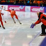 NLD/Heerenveen/20130111 - ISU Europees Kampioenschap Allround schaatsen 2013, 500 meter,Havard Bokko - Zbigniew Brodka