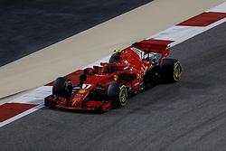 April 7, 2018 - Sakhir, Kingdom of Bahrain - KIMI RAIKKONEN of Scuderia Ferrari drives during the 2018 FIA Formula 1 Bahrain Grand Prix qualifying session at Bahrain International Circuit in Sakhir, Kingdom of Bahrain. (Credit Image: © James Gasperotti via ZUMA Wire)