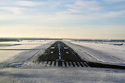 runway approach shot Vnukovo International Airport (IATA: VKO, ICAO: UUWW), a dual runway international airport located 28 kilometres southwest from the centre of Moscow, Russia.