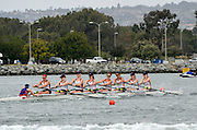 San Diego, California. USA,   2013 San Diego Crew Classic, Mission Bay.  Women's Collegiate 2V, Jackie Ann Stitt Hungness Trophy, Virginia Rowing, power away from the Start. 09:57:53   Sunday  07/04/2013  [Mandatory Credit. Karon Phillips/Intersport Images]..