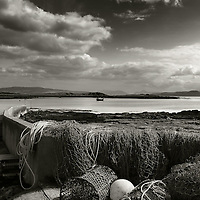 Fishing nets and lobster pots, Kilchoan bay, Ardnamurchan, Highlands