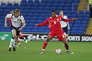 Ashley Williams of Wales. Wales v Scotland, friendly international football match at the Cardiff City stadium, Cardiff, Wales, UK on Sat 14th Nov 2009.  pic by Andrew Orchard, Andrew Orchard sports photography