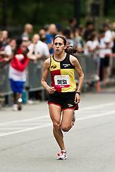NYRR Mini 10K road race (40th year); Desiree Davila