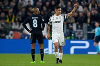 Esultanza Paulo Dybala Juventus Goal celebration <br /> Torino 14-03-2016 Juventus Stadium Football Calcio Champions League 2016/2017 Juventus - Porto Round of 16. Foto Filippo Alfero Insidefoto
