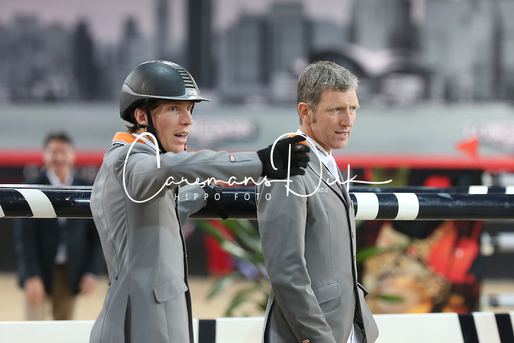 Beerbaum Ludger (GER), Von Eckermann Henrik (SWE)<br /> CSI 5* Longines Hong Kong Masters 2013<br /> Winner of the Longines Grand Prix<br /> © Hippo Foto - Counet Julien