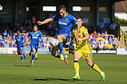 AFC Wimbledon defender Jon Meades (3) controlling the ball during the EFL Sky Bet League 1 match between AFC Wimbledon and Bristol Rovers at the Cherry Red Records Stadium, Kingston, England on 8 April 2017. Photo by Matthew Redman.