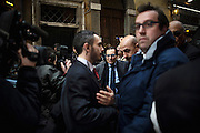 Rosario Crocetta, arriving at Democratic Party headquarters. Rome, 16 january 2014. Christian Mantuano / OneShot