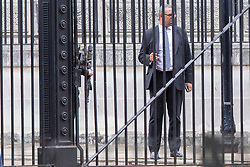 © Licensed to London News Pictures. 11/09/2019. London, UK. Minister without Portfolio James Cleverly departs the back of Downing Street.  Photo credit: George Cracknell Wright/LNP