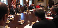 A brief still photo session of President Barack Obama at a cabinet meeting on December 8, 2010.  photo by Dennis Brack