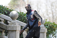 Mamadou Sakho - 23.03.2015 -Equipe de France - Arrivee des joueurs a Clairefontaine<br /> Photo : Andre Ferreira / Icon Sport