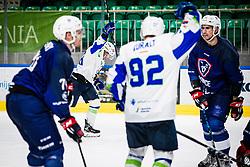 Ograjensek Kevin of Slovenia during match at Beat Covid 19 IIHF Tournament 2021 between national teams of Slovenia and France in Hala Tivoli on 17th of May, 2021, Ljubljana, Slovenia . Photo By Grega Valancic / Sportida
