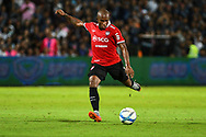 NONTHABURI, THAILAND - JULY 09: Heberty of SCG Muangthong United in action during the second half of the Thai League: SCG Muangthong United vs Buriram United at SCG Stadium, Nonthaburi, Thailand on July 09, 2017.<br /> .<br /> .<br /> .<br /> (Photo by: Naratip Golf Srisupab/SEALs Sports Images)<br /> .<br /> Any image use must include a mandatory credit line adjacent to the content which should read: Naratip Golf Srisupab/SEALs Sports Images