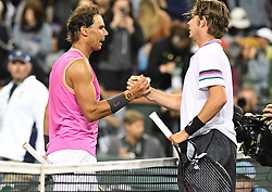 March 10, 2019 - Palm Desert, California, Usa - Tennis : BNP Paribas Open 2019 - Rafael Nadal - Espgane (Credit Image: © Panoramic via ZUMA Press)