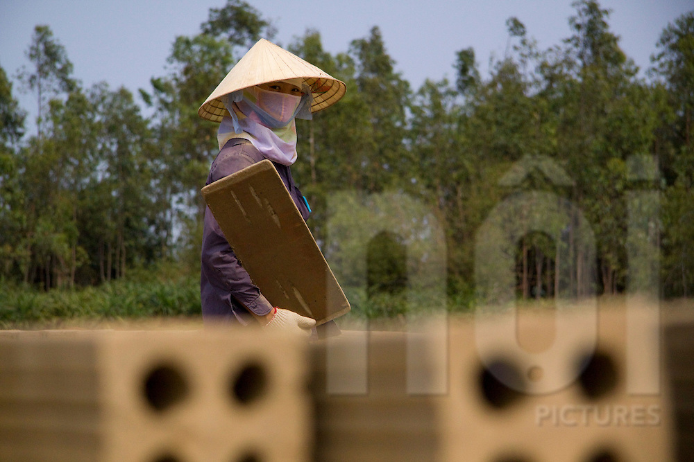 Brick factory in the province of Quang Binh