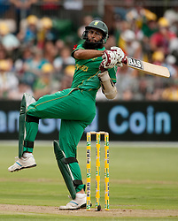 South Africa's Hashim Amla bats during the Fourth One-Day International at St Georges Park, Port Elizabeth, South Africa.