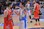 DESCRIZIONE : Beko Legabasket Serie A 2015- 2016 Playoff Quarti di Finale Gara3 Dinamo Banco di Sardegna Sassari - Grissin Bon Reggio Emilia<br /> GIOCATORE : Giacomo Devecchi Pietro Aradori<br /> CATEGORIA : Fair Play<br /> SQUADRA : Dinamo Banco di Sardegna Sassari<br /> EVENTO : Beko Legabasket Serie A 2015-2016 Playoff<br /> GARA : Quarti di Finale Gara3 Dinamo Banco di Sardegna Sassari - Grissin Bon Reggio Emilia<br /> DATA : 11/05/2016<br /> SPORT : Pallacanestro <br /> AUTORE : Agenzia Ciamillo-Castoria/L.Canu