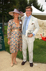 JOHN & ANOUSKA AYTON of Links of London at the 3rd day of the Glorious Goodrwood Racing festival 2006 - Ladies Day, at Goodwood Race course, West Sussex on 3rd August 2006.<br />