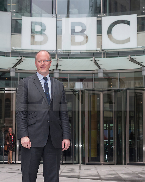 © licensed to London News Pictures. London, UK 04/07/2012.  George Entwistle, the new director of the BBC posing today, outside BBC's New Broadcasting House. BBC Trust Chairman Lord Patten has appointed George Entwistle as the Director-General of the BBC. Photo credit: Tolga Akmen/LNP