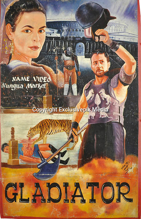 Bootleg Movie Posters from Ghana<br /> <br /> In Ghana, when official movie posters can't be imported for Hollywood films, local artists will bootleg them to the best of their abilities. Apparently this is a global phenomenon and countless 'local' interpretations of movie posters exist worldwide. These particular versions are from Ghana, and they are amazing. Some are even more interesting than the 'official' version IMO!<br /> ©Exclusivepix Media