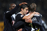 FOOTBALL - FRENCH CHAMPIONSHIP 2009/2010  - L1 - AS NANCY v GIRONDINS BORDEAUX  - 29/11/2009 - PHOTO GUILLAUME RAMON / DPPI - JOY OF BORDEAUX AFTER THE GOAL