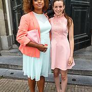 NLD/Amsterdam/20150620 - Huwelijk Kimberly Klaver en Bas Schothorst, Talisia Misiedjan en ..............