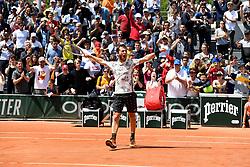 May 29, 2019 - Paris, France, F - Tennis : Roland Garros 2019 - Corentin Moutet - France (Credit Image: © Panoramic via ZUMA Press)
